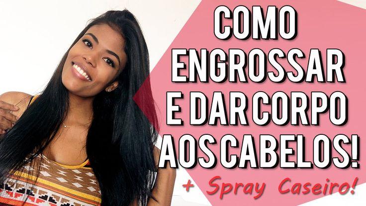 Aprenda a dar corpo e engrossar os cabelos! + Spray Caseiro de Gelatina