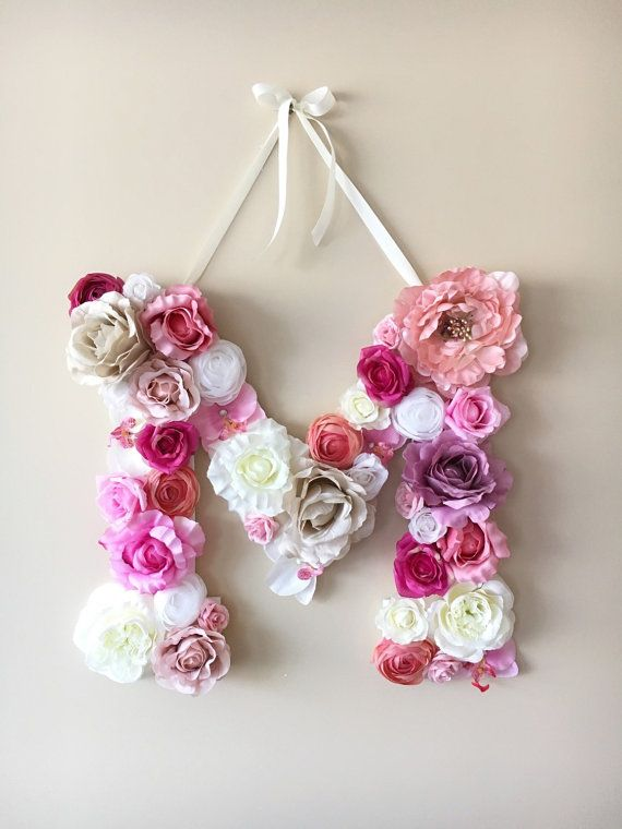 Flower Letters Floral Letters Personalized by PaulettaStore