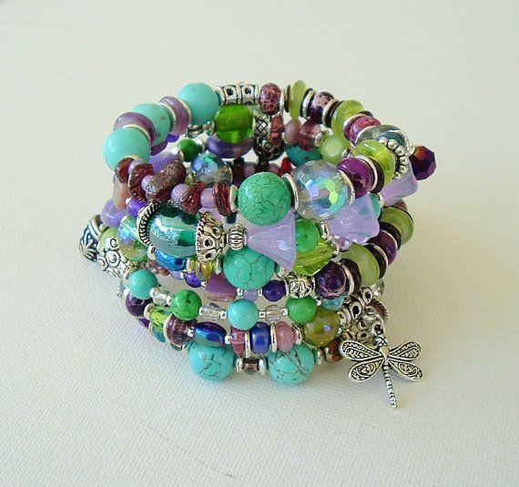 Boho Bracelet Stack Bracelet Bohemian Jewelry by BohoStyleMe