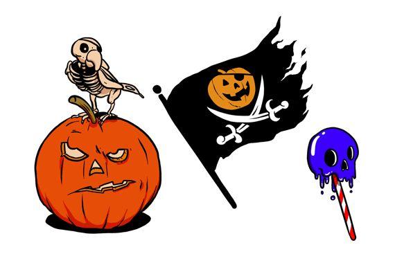 Halloween. Tatuagens temporárias de Le Petit Pirate, ilustradas por Verso