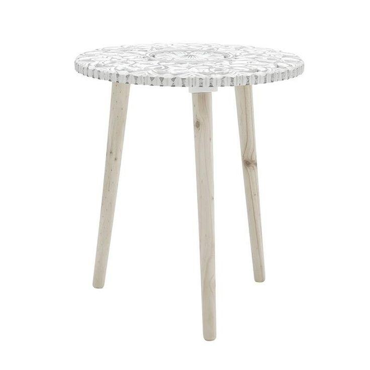 Τραπέζι Ξύλινο Λευκό 40Χ40Χ46 INART