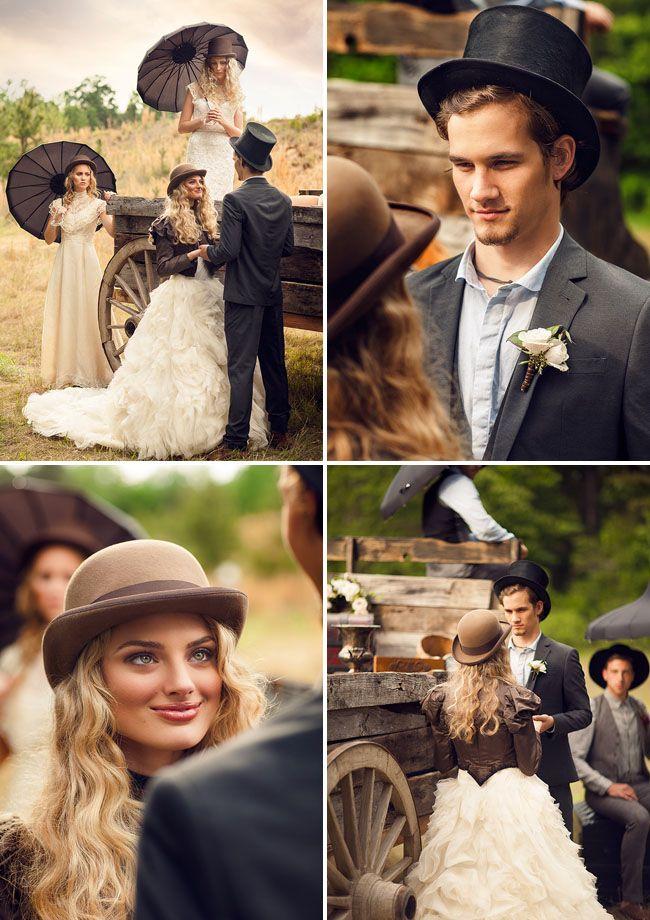 1800s wedding #Victorian Wedding Inspiration #vintage wedding 1800 #hat bride