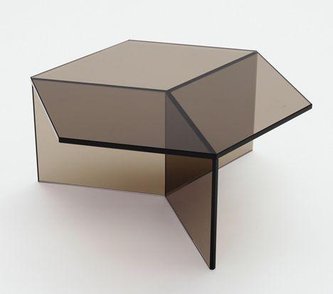 Schön Isom Glass Table // Blue By Sebastian Scherer