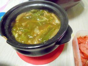 野菜たっぷり土鍋味噌汁