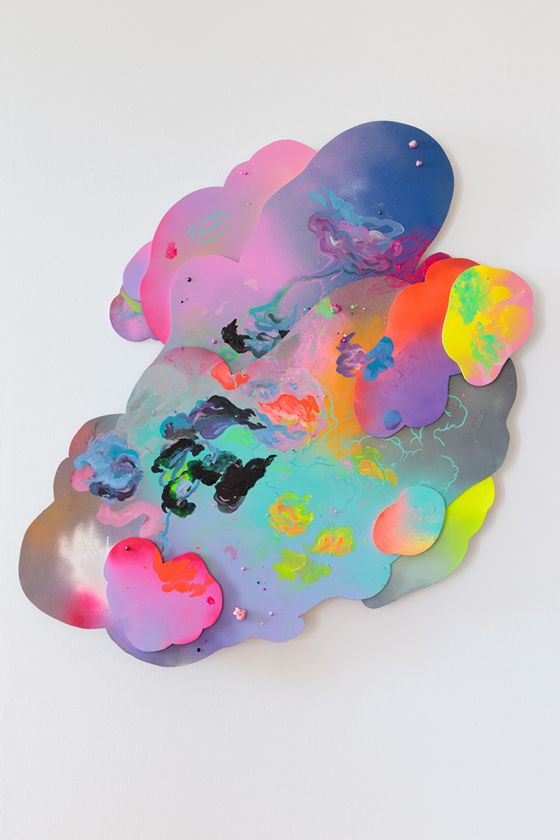 Loving this colorful piece by artist Louise Zhang
