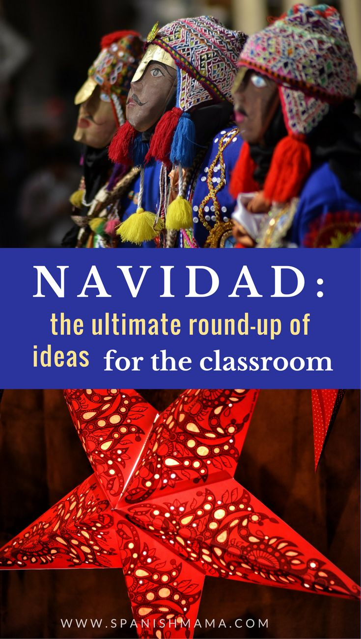 Spanish Christmas Activities: The Ultimate Round-up of Classroom Ideas. This is an awesome resource for teaching about winter holidays and Navidad in the Spanish classroom, with songs, books, lessons, crafts, and more.