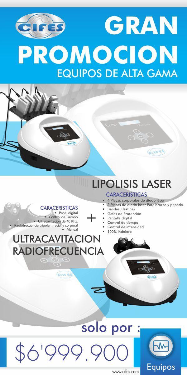 Lipolisis laser + Ultracavitacio y Radiofrecuencia por solo $6'999.000