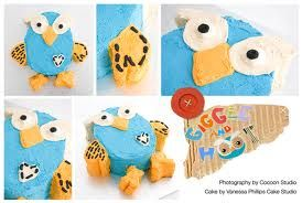 1st birthday hoot cake- looks achievable