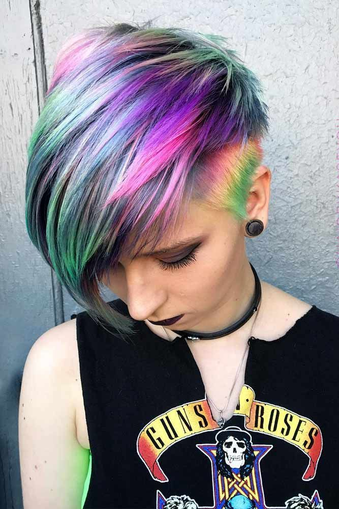 33 Rainbow Hair Styles To Look Like A Unicorn Hair Rainbow Hair