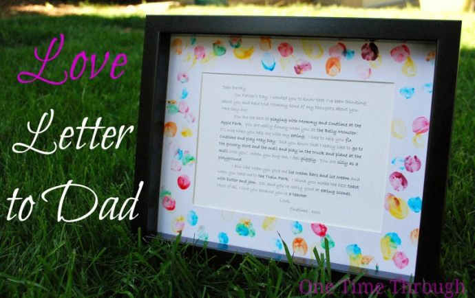 Love Letter to Dad- fill out each year for each child and store in a keepsake book