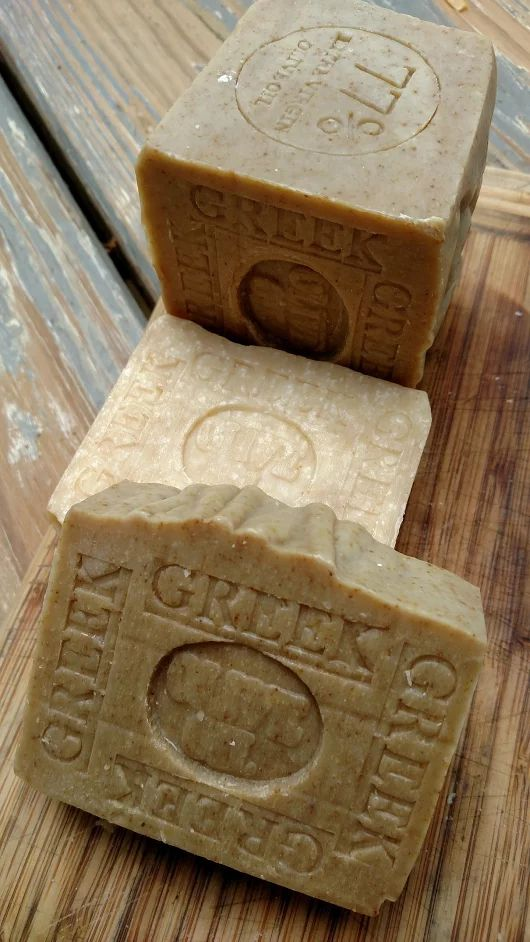 3 Greek Olive oil Soap for gift  from https://plus.google.com/u/0/+GrandmaBorbaMakingSoap ... or naturalhandcraftedsoap.com
