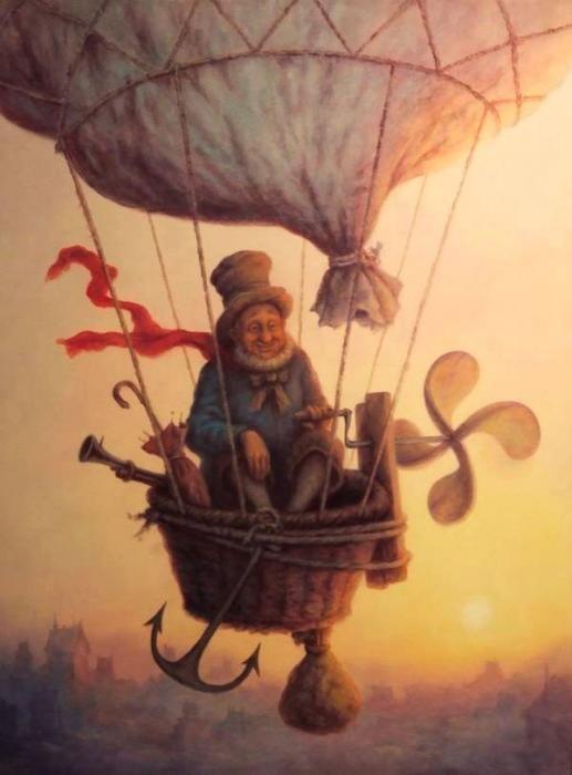In the clouds - artist: Szász Endre László