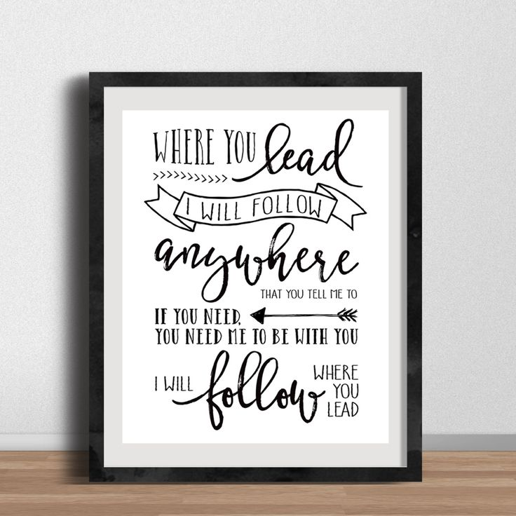 DESCRIPTION Who doesnt love the theme song to Gilmore Girls? Where You Lead is a Carole King classic that will look spectacular on any gallery wall, office or bedroom. It also makes a great gift for that Gilmore Girls fanatic in your life!  PRINT DETAILS All posters are printed on high quality paper with an inkjet printer. (If youd like more specific details about paper brands and weights, feel free to message me.) Frame not included.  MAT IT! We also offer a matted option for our smaller…