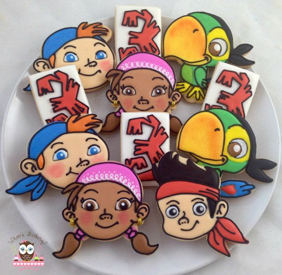 Jake and the Neverland Pirates Cookies by Whoosbakery on Etsy