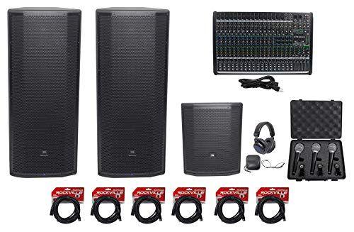 0fdf304556f 2) JBL Pro PRX825W Dual 15 Active Speakers+15