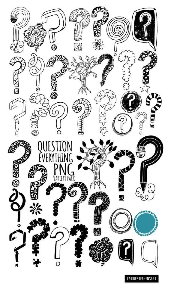 Versatile Question Mark Line Art Illustrations and