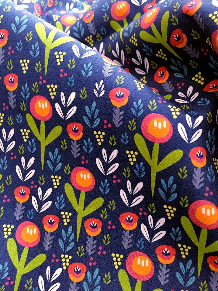 Wild flower blue - surface pattern design by Julie Harrison http://www.patternplaystudio.com/surfacepattern/rw5ax7rwpahv0mmqu3b3jcb10cxuhs
