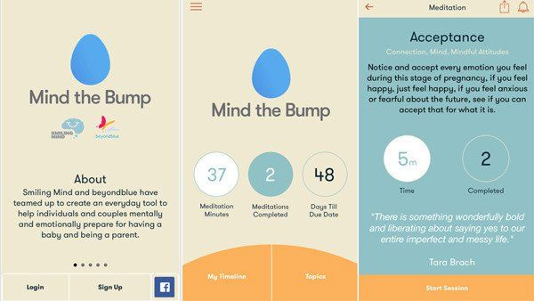 Mind the Bump app | helps parents stay focused and calm through pregnancy and after