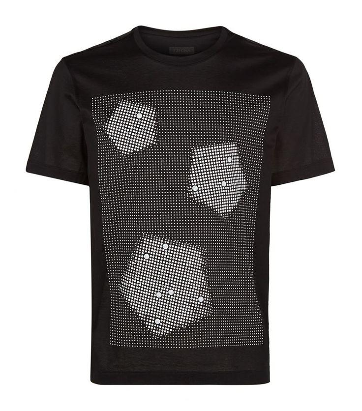 Z Zegna Pentagon Print T-Shirt, Black. £ 119.00 #ZZegna #TShirt #mensfashion #malefashion #menswear http://www.harrods.com/product/pentagon-print-t-shirt/z-zegna/000000000005269707?cat1=new-men&cat2=new-men-tshirts#