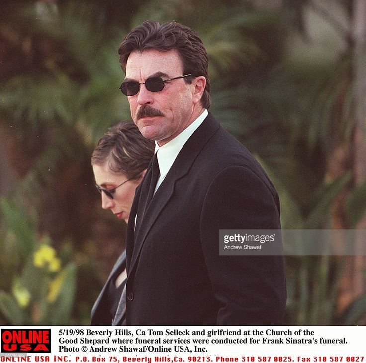 Beverly Hills, Ca. Tom Selleck And Girlfriend At The Church Of Good Shepard Where Funeral Services Where Held For Frank Sinatra.
