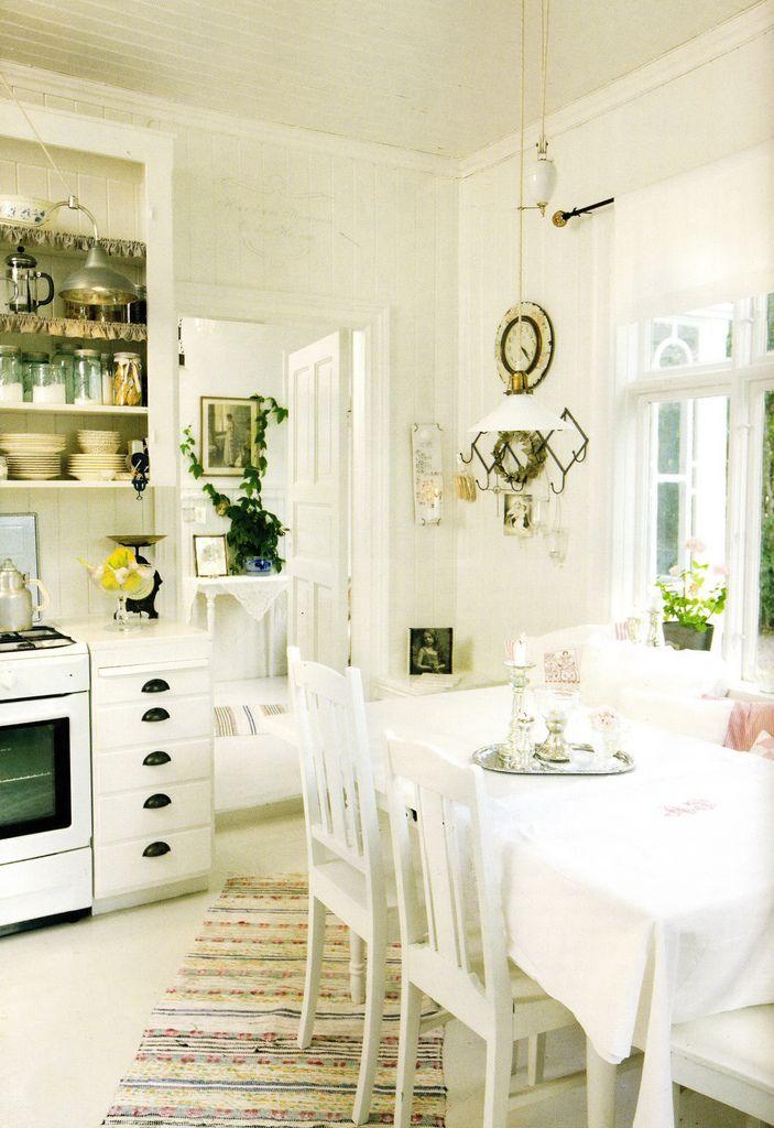 Another fun retro kitchen in all white my retro kitchen for Romantic kitchen designs