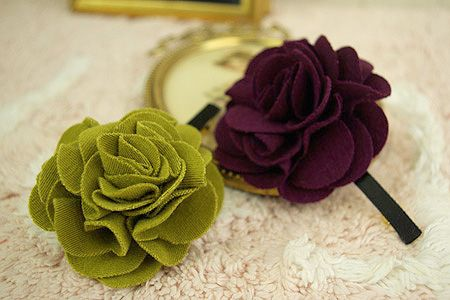 cute cute flower hair clips