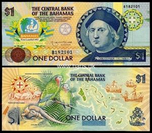 Bahamas $1 banknote
