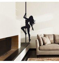 Sticker danseuse barre pole dance strip teaseuse | Fanastick.com