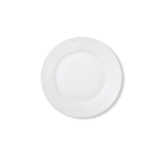 Middagstallerken fra Royal Copenhagen, White Elements, 27 cm