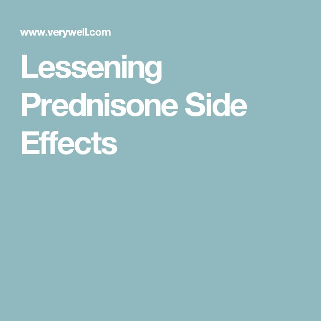 Lessening Prednisone Side Effects