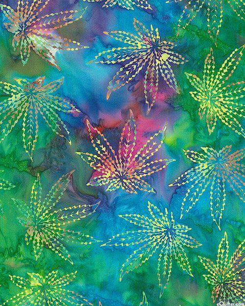 Weed Leaves Batik - Multi