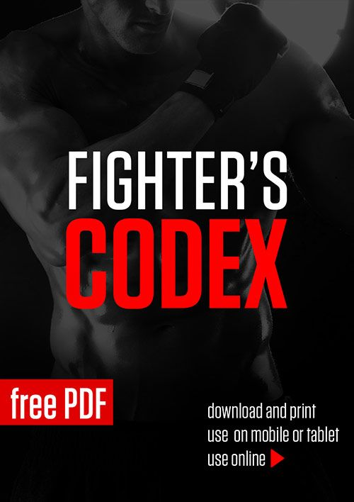 Page 1 of 31 Fighter's Codex is a martial art style training program for general fitness. It is a high intensity workout regimen that will streamline and tone and give your body strength and agility. It's 100% no-equipment and home friendly...
