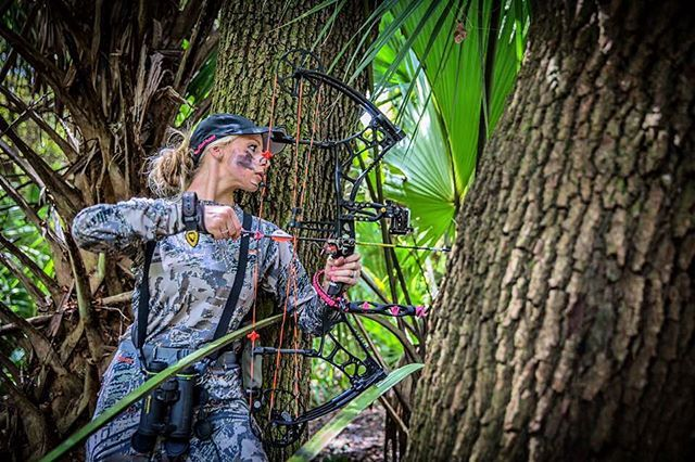 My beautiful friend @jessbond_007 while she was down in Florida with me doing some hog hunting. Don't let the pink nails fool you, she's a killer! Can't wait to see you and Brinkley soon! (Ok Boss and Christian too!) #WomenWhoHunt #OutsidersTV #GroceryShopping #MyFriend #BowHunting #HogPatrol #BearArchery #SickForIt #Vanguard #ThereWillBeBlood #SitkaGear #VictoryArrows #Nature #Florida #Swamp #OakHammock #Palmettos #SpotAndStalk @beararcheryproducts @sitkagear  @vanguardoutdoors