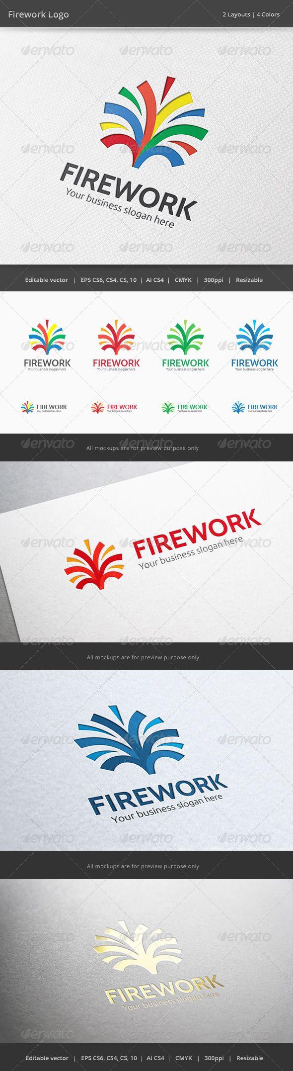 Firework Media Logo  #GraphicRiver