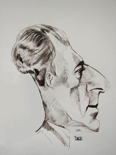 Maurice Ravel caricature by Dep