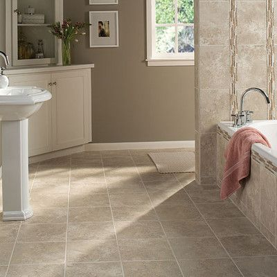 "Daltile Stratford Place 12"" x 12"" Unpolished Ceramic Floor Tile in Dorian Grey - our master bath and guest bath tile"