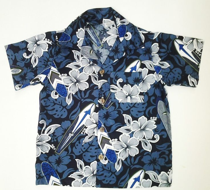 Polynesian Designs -  Boys hawaiian-shirt Blue Gray Surfboards, $20.00 (http://www.polynesiandesigns.com/boys-hawaiian-shirt-blue-gray-surfboards/)