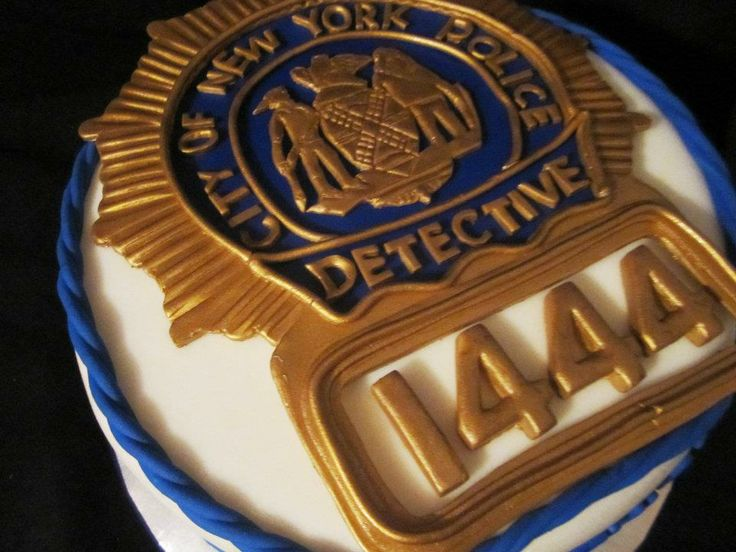 nypd detective shield cake | ... cake pops cookies 3d ...