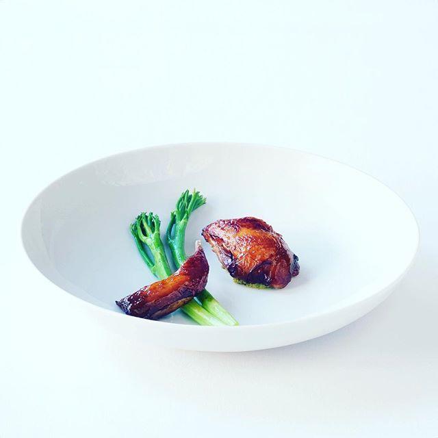 lacquered redgate farm quail, broccolini & mole  @chrisboersma