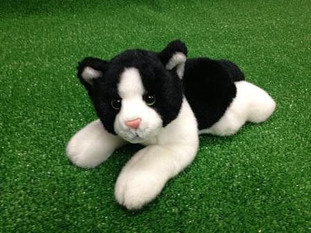 25CM CUDDLY CRITTERS PLUSH BLACK & WHITE CAT MILLA I COOL CAT COLLECTABLES