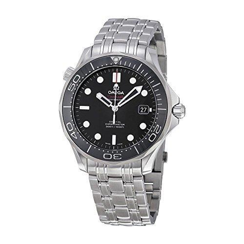 ON SALE! Omega Men's 212.30.41.20.01.003 Seamaster Black Dial Watch