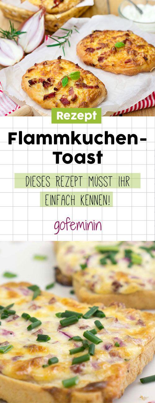 Flammkuchen-Toast: Dieses Rezept ist super lecker und schnell gemacht!