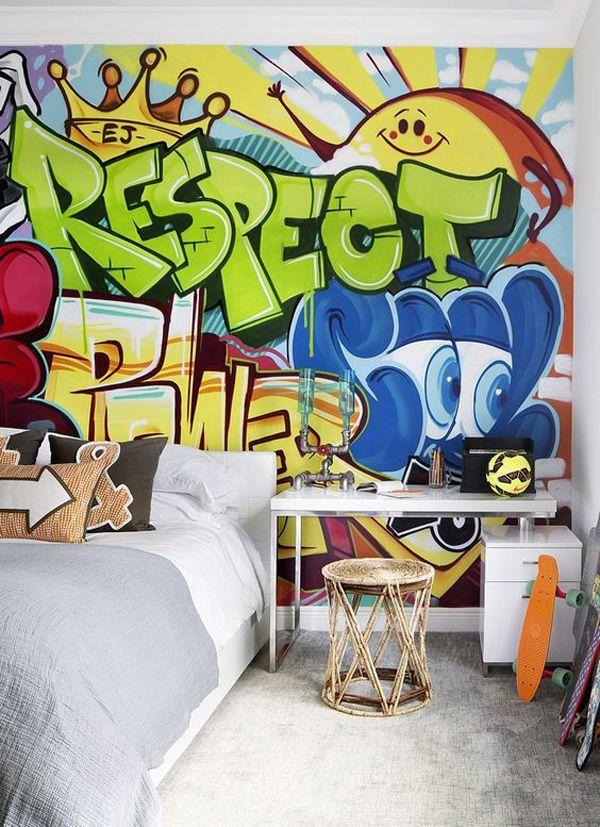 20 Impressive Graffiti Bedroom Decorating Ideas Homemydesign Murais Quarto Quarto De Artista Arte De Grafite Na Parede