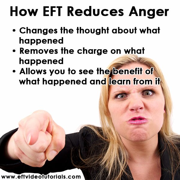 How EFT Reduces Anger