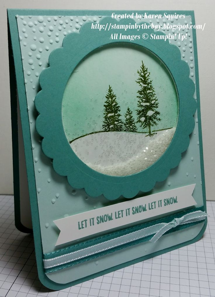 Stampin' By The Bay: Let it Snow Shaker Card