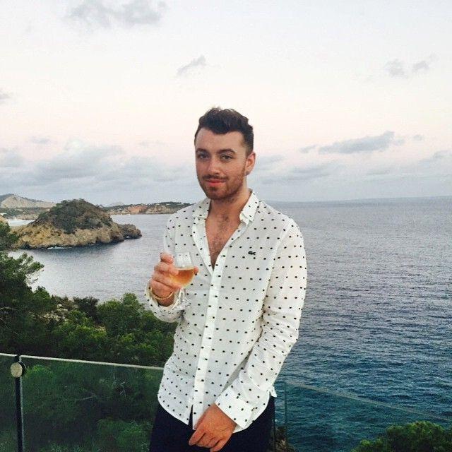 - Sam Smith on holiday in Ibiza