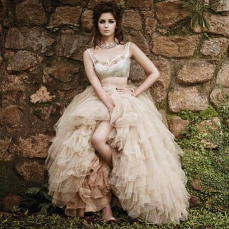 Aalia Bhatt In Vintage Wedding Gown .