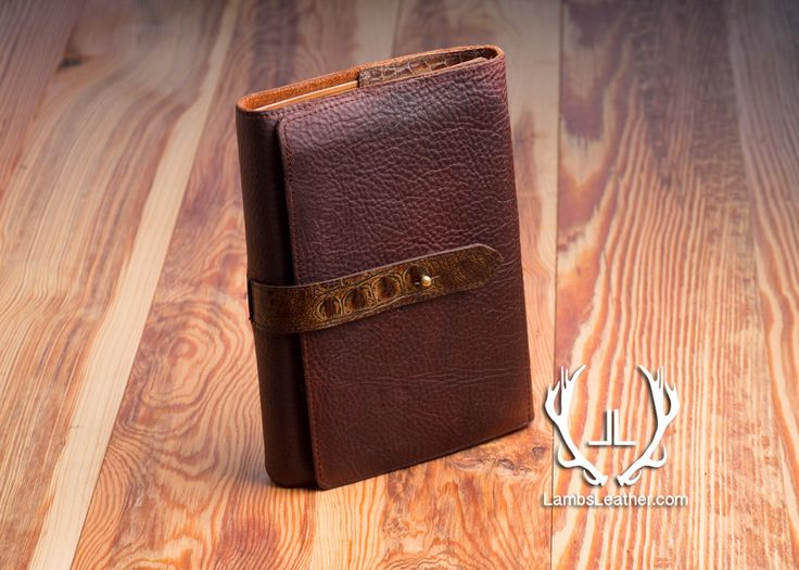 Berean Bible Cover, Slimline Bible Cover, Brown Oil tanned Leather, Crocodile Embossed Cowhide, Student Bible Cover, Journaling Bible Cover by LambsLeather on Etsy