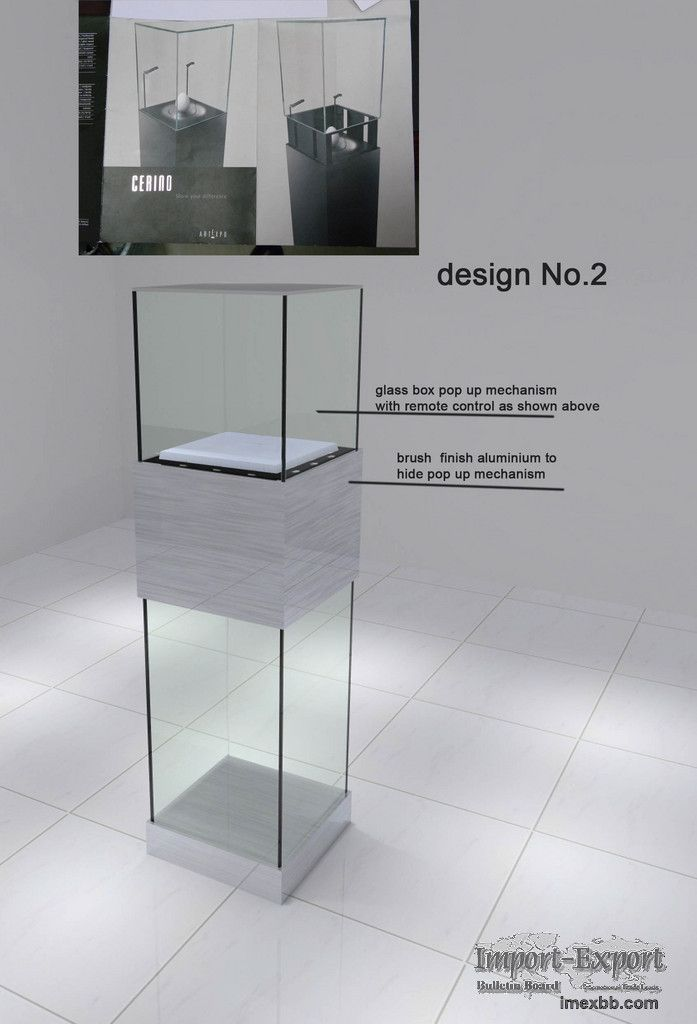 mirror jewelry display retail case | Retail Store Glass Showcase Display Case