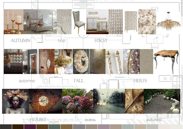 Moodboard 2015 Autumn. Bizzotto furnitures, Sicis the art of mosaic and my favorite Hydrangea.